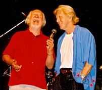 On stage with Brian Matthew, Brighton, 20th August 2000