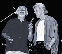 Carl with Brian Matthew, Brighton, August 2000 - Photo by Helen