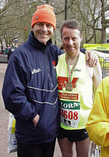 Carl with Tony Wadsworth after the race