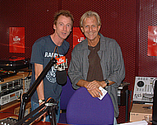 Carl with Gary Crowley in the studio - photo by Helen Macdonald