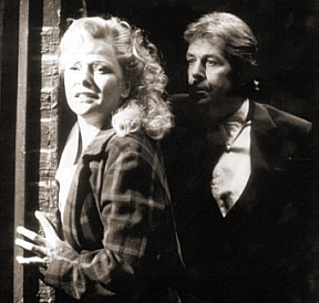 Carl on stage with Stephanie Lawrence in Blood Brothers - 1992