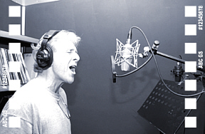 "Carl recording ""Soldier"" Photo by Arnim Kilgus"